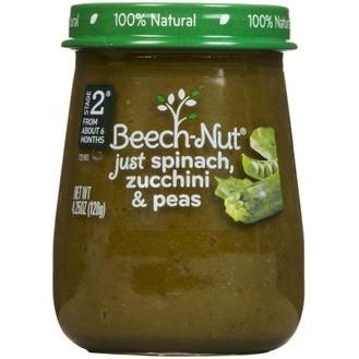 Trái cây nghiền Beech-Nut vị rau bó xôi, bí ngồi & đậu Hà Lan