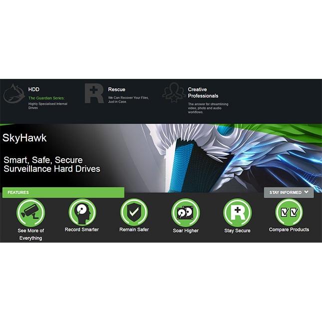[Mã 267ELSALE hoàn 7% đơn 300K] Ổ Cứng HDD 4TB Seagate SkyHawk 3.5 inch SATA3 6Gb/s Dùng Cho Camera Karaoke máy tính...