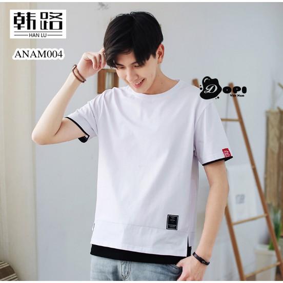 Áo phông nam phong cách Hàn Quốc co dãn 4 chiều