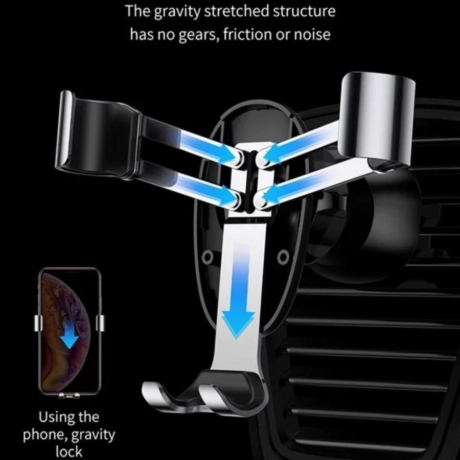 [Chính Hãng - Sẵn] Bộ đế giữ điện thoại khóa tự động dùng cho xe hơi Baseus Mini Gravity Car Holder LV429 New 100%