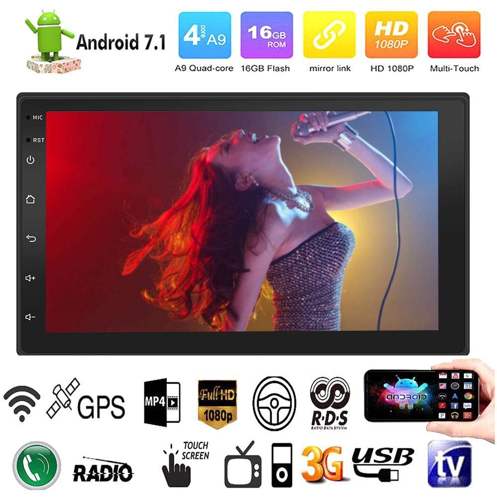 7 Inch Quad Core Player Portable Car Bluetooth MP5 HD GPS Navigation Radio Touch Screen Android Universal