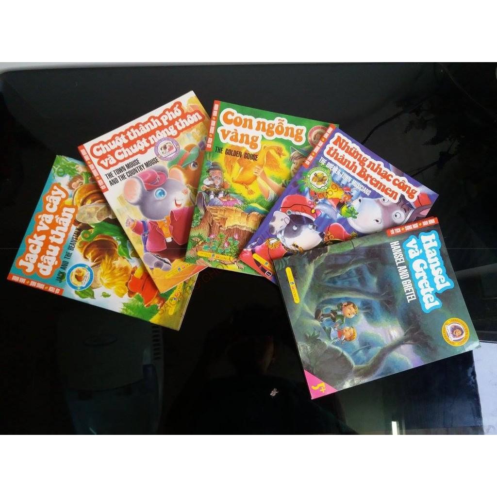 Bộ Cổ tích - Song ngữ - Dán hình Gồm 5 cuốn