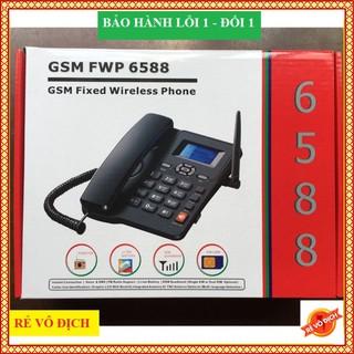 Máy Điện Thoại Bàn Lắp 2 Sim - Có Tiếng Việt ETS 6588 Lắp Mọi Loại Sim Di Động, Gphone, HomePhone thumbnail