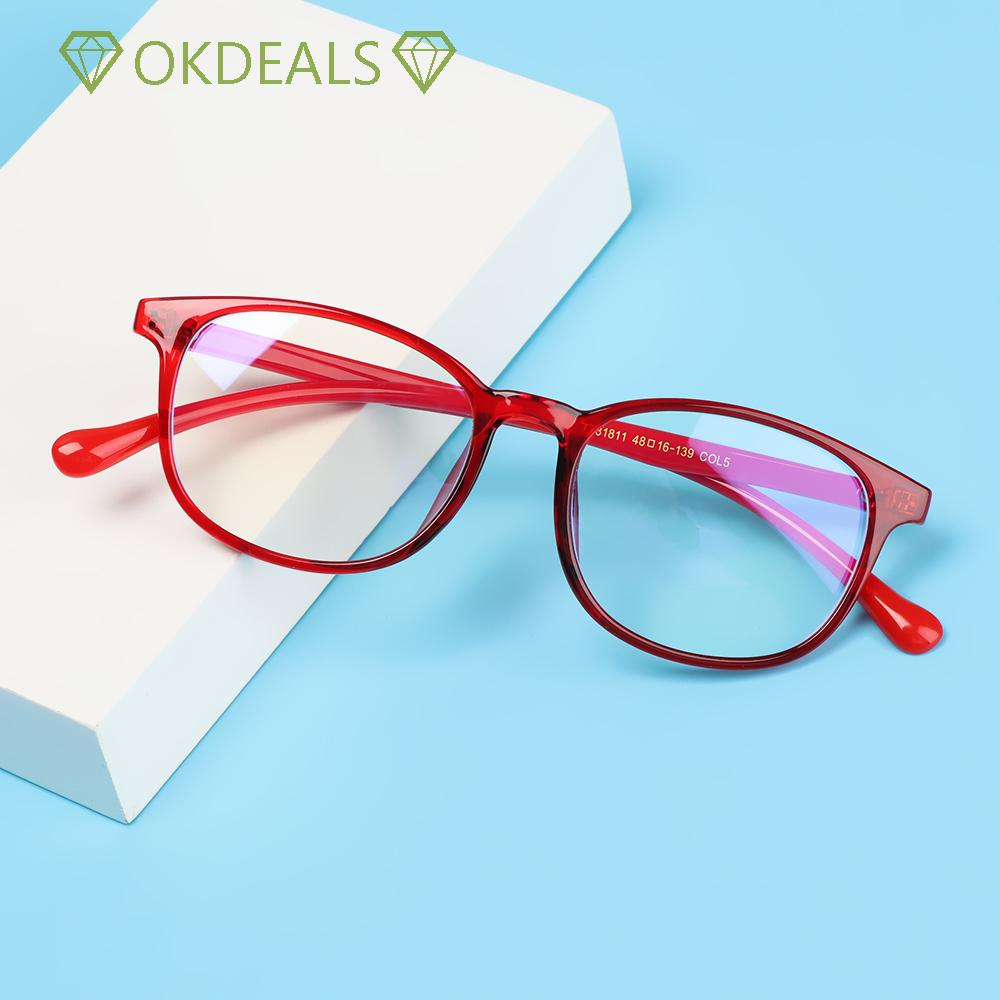 💎OKDEALS💎 Fashion Kids Glasses Portable Ultra Light Frame Comfortable Eyeglasses TR90 Online Classes Computer Children Boys Girls Eye Protection Anti-blue Light/Multicolor