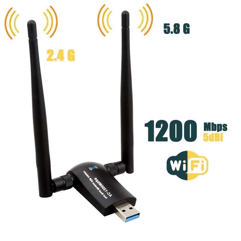 Wireless Usb Wifi Adapter,Antennas Network For Desktop Laptop Giá chỉ 233.000₫