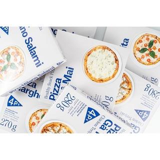 Pizza 4P's Có 3 Vị : Vị Four Cheese, Vị Xúc Xích Ý Salami, Vị Gà Teriyaki
