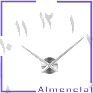 Đồng Hồ Treo Tường Almencla1 3d Không Khung Màu Đen Cho Phòng Khách