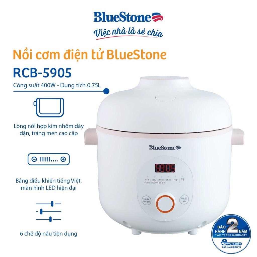 Nồi Cơm Điện Tử BlueStone RCB-5905 - 0.75L - Hàng chính hãng - Bảo hành 24  tháng chính hãng 849,000đ