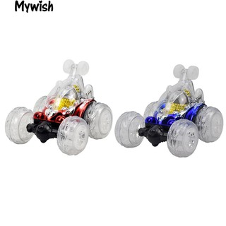 360° Spinning Flips Colorful Flash Music Children Remote Control Truck Toys