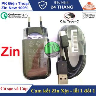 Bộ sạc nhanh HTC 3.0 ,Cáp Type - C, dành cho M10,10,Utra,... - Cam kết Chuẩn Zin máy