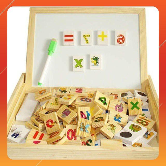 [GIÁ RẺ VÔ ĐỊCH] - Bảng gỗ 2 mặt dạy bé học toán