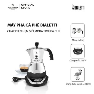 Máy pha cafe Bialetti chạy điện hẹn giờ Moka Timer 6 cup 6TZ 2015 - 0006093