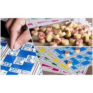 Bộ Cờ Loto Nhựa, Lô tô giải trí ngày Tết, lotto bingo 2020