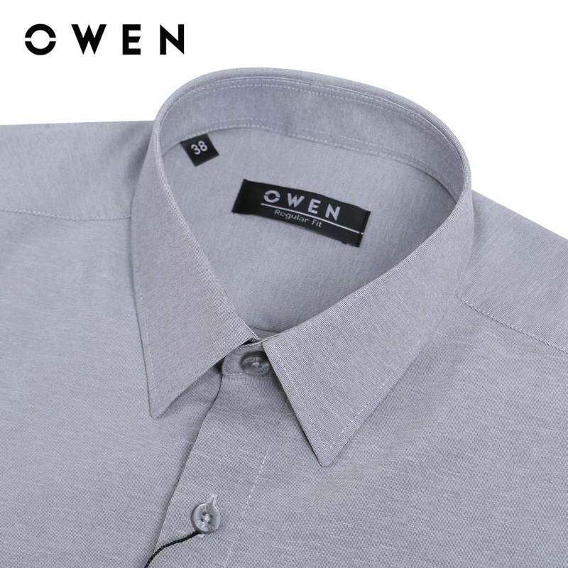 Áo sơ mi ngắn tay nam Owen Nano Regularfit màu ghi - AR23788N (MHR)