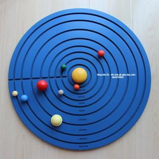 Ghép hình 9 hành tinh trong hệ mặt trời – Giáo cụ Montessori
