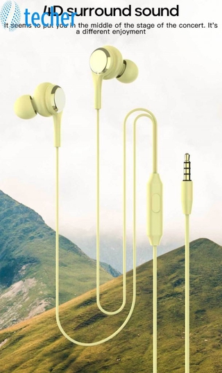 【Fast Delivery】 Comfortable wired headsetEarphone 3.5mm In Ear Wired Headset With Mic Remote Earphone For Iphone For Samsung For Xiaomi 【te】