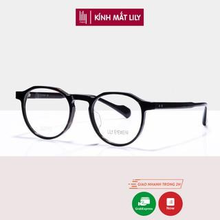 Gọng kính cận nữ Lilyeyewear chất liệu kim loại, gọng kính chắc chắn chống bụi đường - 8061