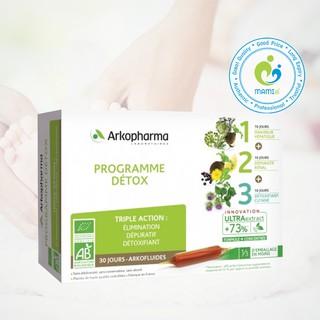 Nước uống (30 ống) giải độc gan, thận và đẹp da cho người từ 15 tuổi trở lên Arkopharma Programme Detox, Pháp thumbnail
