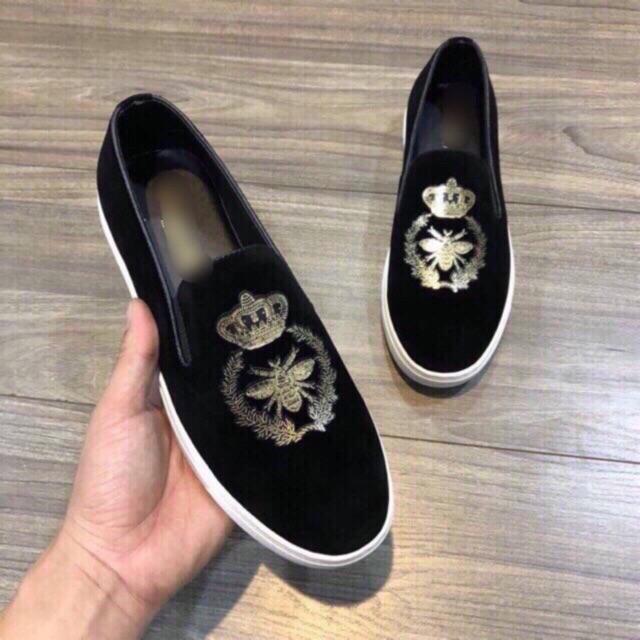 Giày Lười Nam ong Vương Miện Ko đính đá