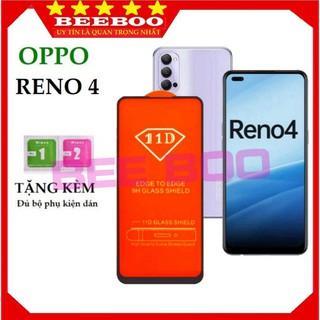 Kính cường lực Oppo Reno 4 – Siêu chuẩn 100% – Full màn hình 11D và trong suốt – Độ cứng 9H [Free Ship 50K]
