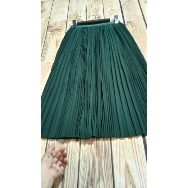Chân váy xếp li dáng dài L1 hàng nhập