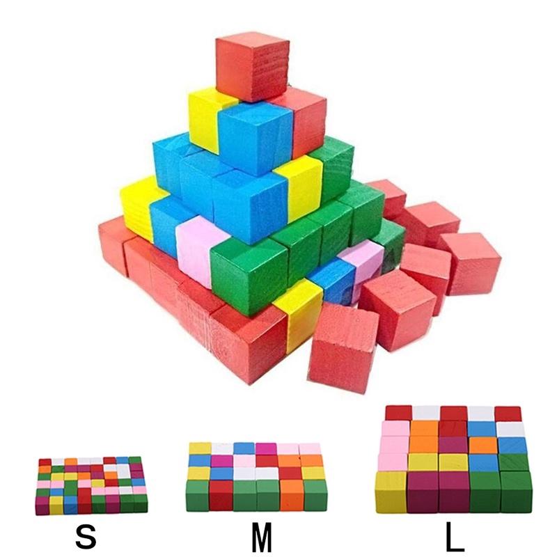 Set khối gỗ đồ chơi xây dựng xếp hình cho bé