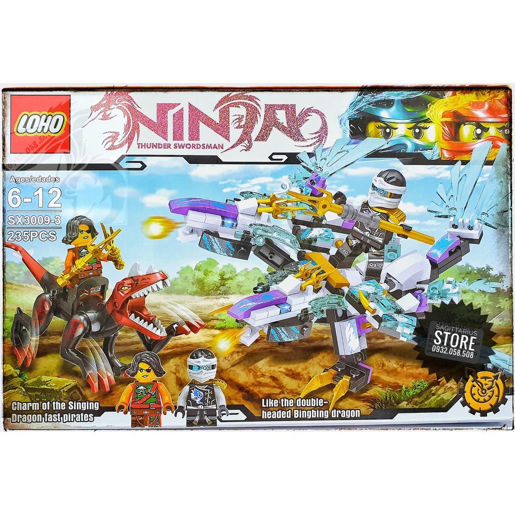 LEGO NinjaGo Lắp Ráp Robot Rồng , Khủng Long SX3009-3 ( Tím - 235 Miếng )