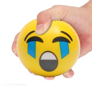 in stock❅Kids Face Expression Squeeze Ball PU Hand Wrist Exercise Stress Relief Toys✭electronicmall