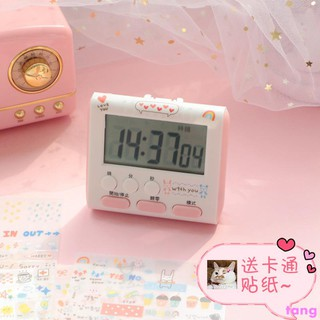 Ins girl heart simple upgrade second generation small alarm clock student to do