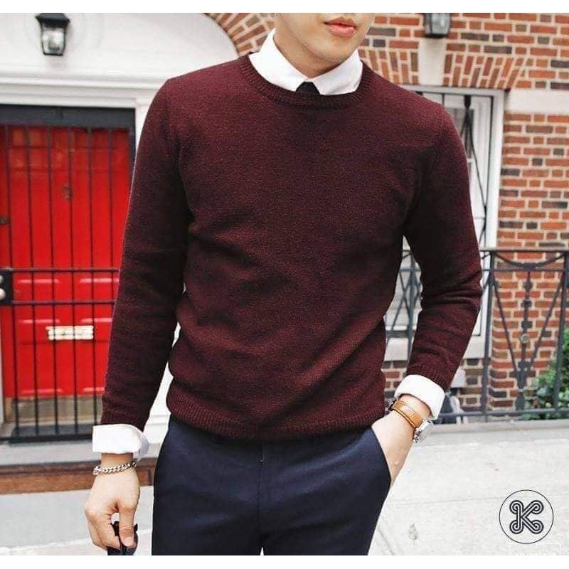 Áo len tiêu cổ tròn mẫu mới chất đẹp - Áo len
