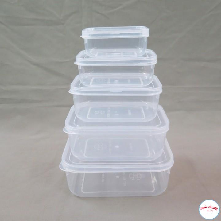 Bộ 5 hộp trữ đồ đông-hộp  nhựa đựng thức ăn lạnh bầu Song Long dễ dàng sử dụng ( MS: 2288 ) br00312