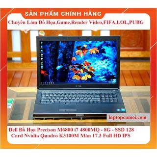 Laptop Dell Precision M6800 Core i7 4800MQ 2.8Ghz, 8GB, SSD 128, Card Nvidia Quadro K3100M, 17.3 Full HD