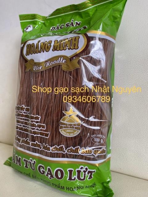 1kg Bún Gạo Lứt Đỏ Hoàng Minh (Bún Khô Sạch Tốt Cho Sức Khoẻ)