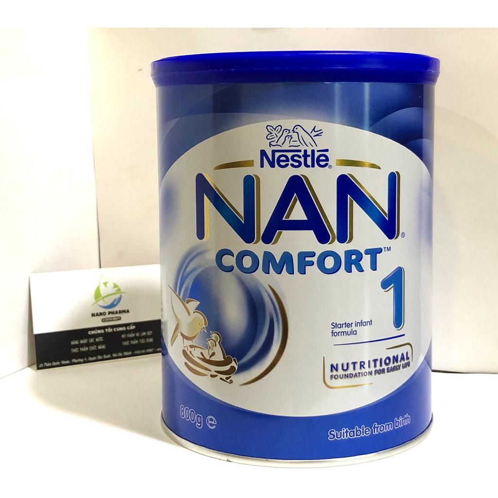 [DATE MỚI]Sữa Nan Comfort Úc số 1 dạng bột 800g