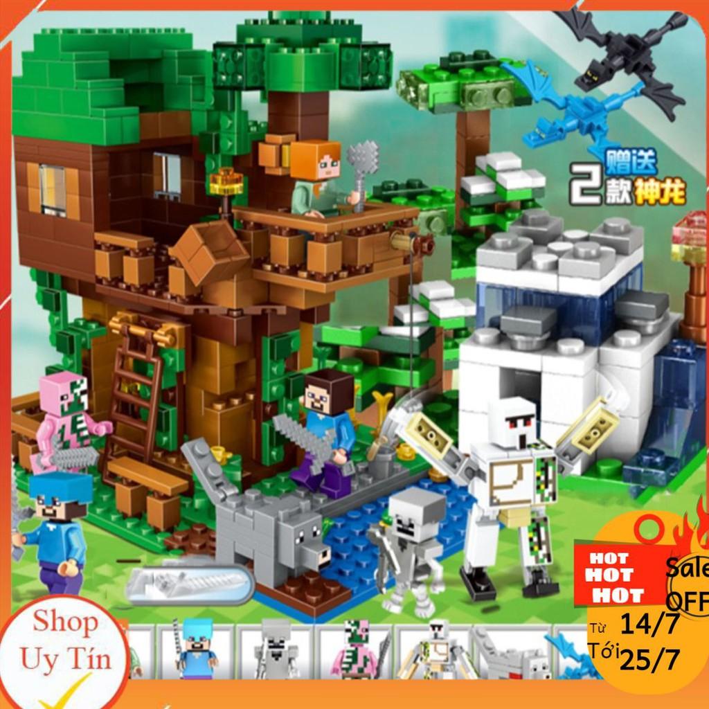 Lego Minecraft Ngôi Nhà Trên Rừng Đầy Tuyết [QUÀ TẶNG SIÊU HOT]