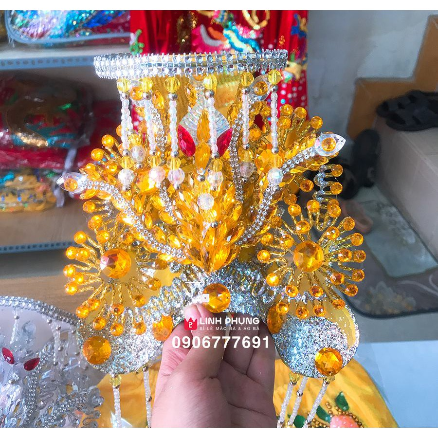 Mão mẹ Diêu Trì Địa Mẫu / mẹ Chúa Xứ / mẹ Ngũ Hành - mẫu B. toàn màu -  Tượng cao 20cm - vòng mão 16cm tại TP. Hồ Chí Minh