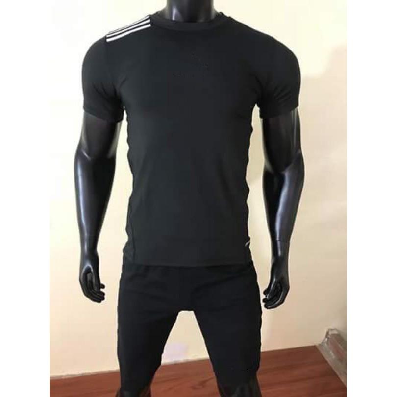 Bộ Thể Thao Nam không cổ D.A.S KC0020 ĐEN chất đẹp, Bộ quần áo thể thao nam giá rẻ(1 quần+1 áo)