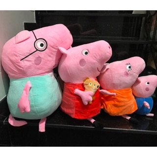KHO SỈ Gia Đình Heo Peppa Pig Khổ 45cm Lông Nhung Mềm Mịn
