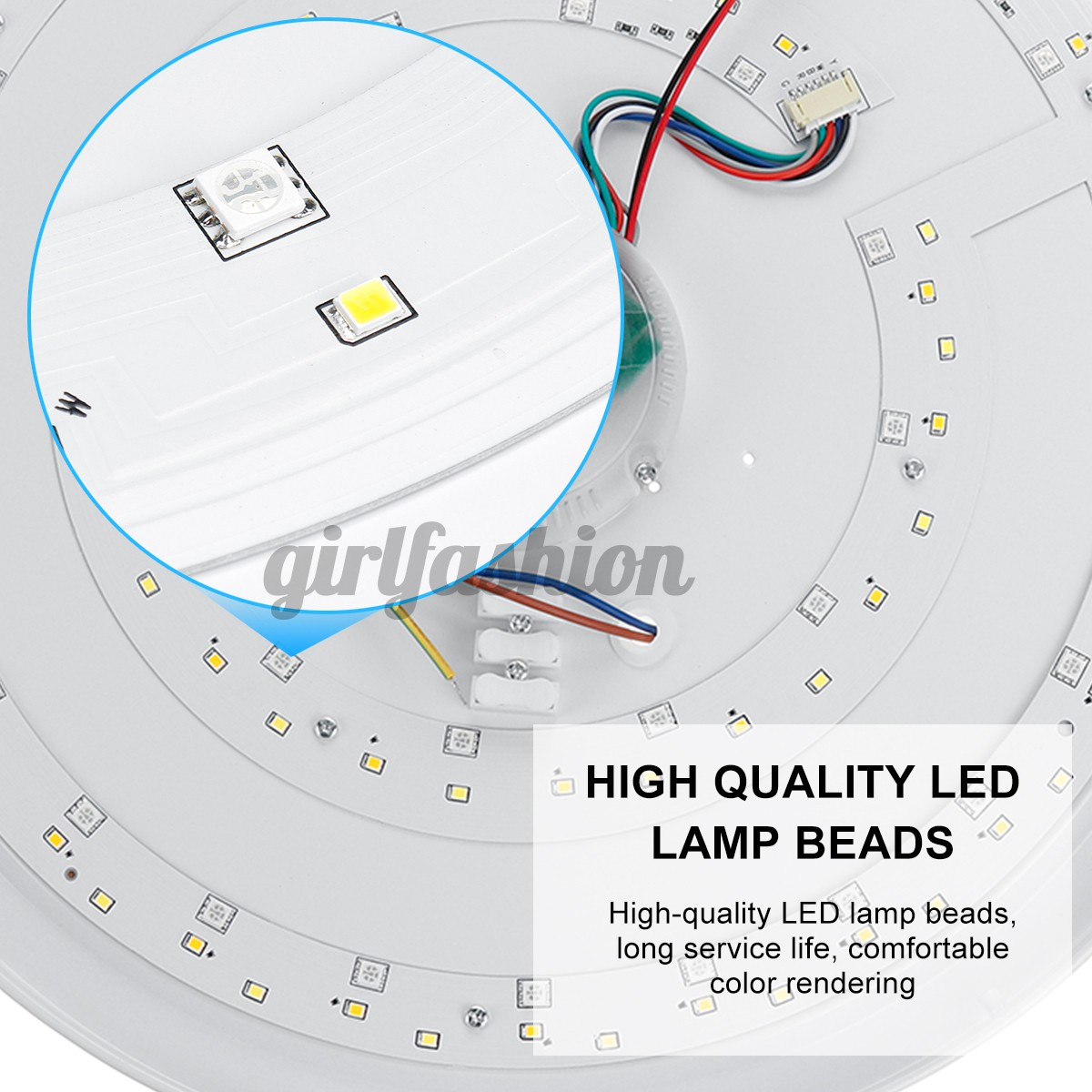 Đèn Trần Bluetooth Thông Minh 100w Có Remote Điều Khiển