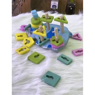 Bộ xếp các hình khối giúp bé phát triển tư duy (hàng cao cấp)