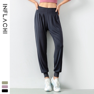 Women's sports yoga quick-drying pants hifi quality Solid color thin casual and loose