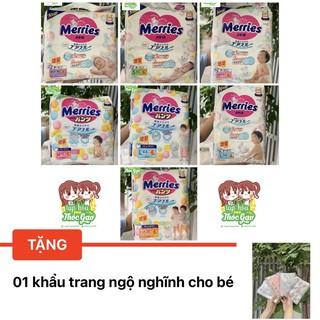 COMBO 2 BỊCH - Tã Bỉm Quần Dán Merries Nội Địa Nb96 S88 M68 L58 M64 L50 XL44 xxl28 thumbnail