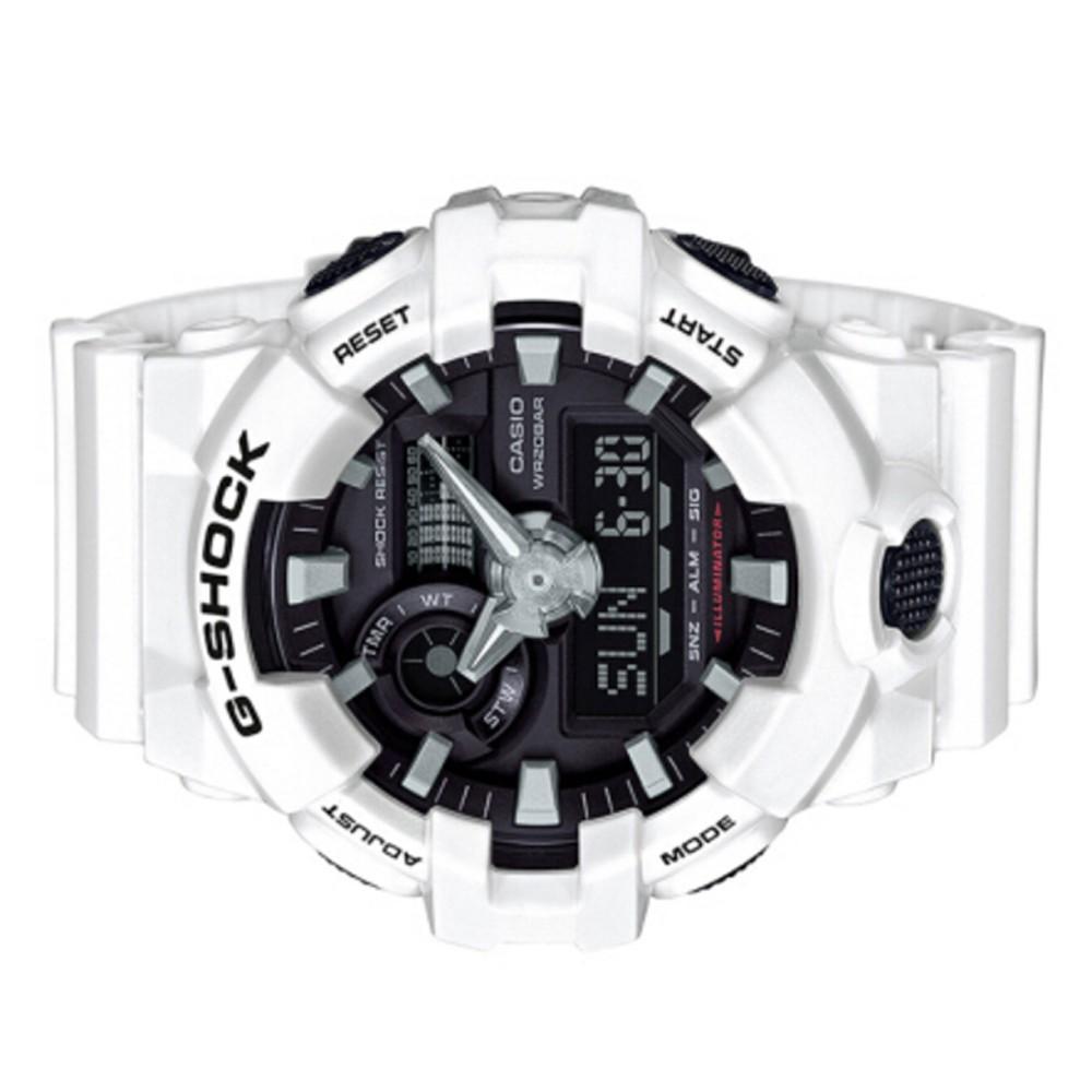 (ขายบ้า) Casio G-Shock นาฬิกาข้อมือผู้ชายกีฬานาฬิกาควอตซ์ GA-700-7A ในสต็อก
