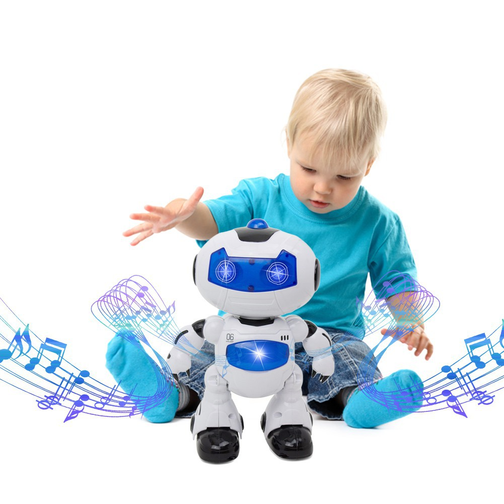 PARA*Outer Space Power-Operated Dancing  360-Degree Rotation  Robot Toy For Kids