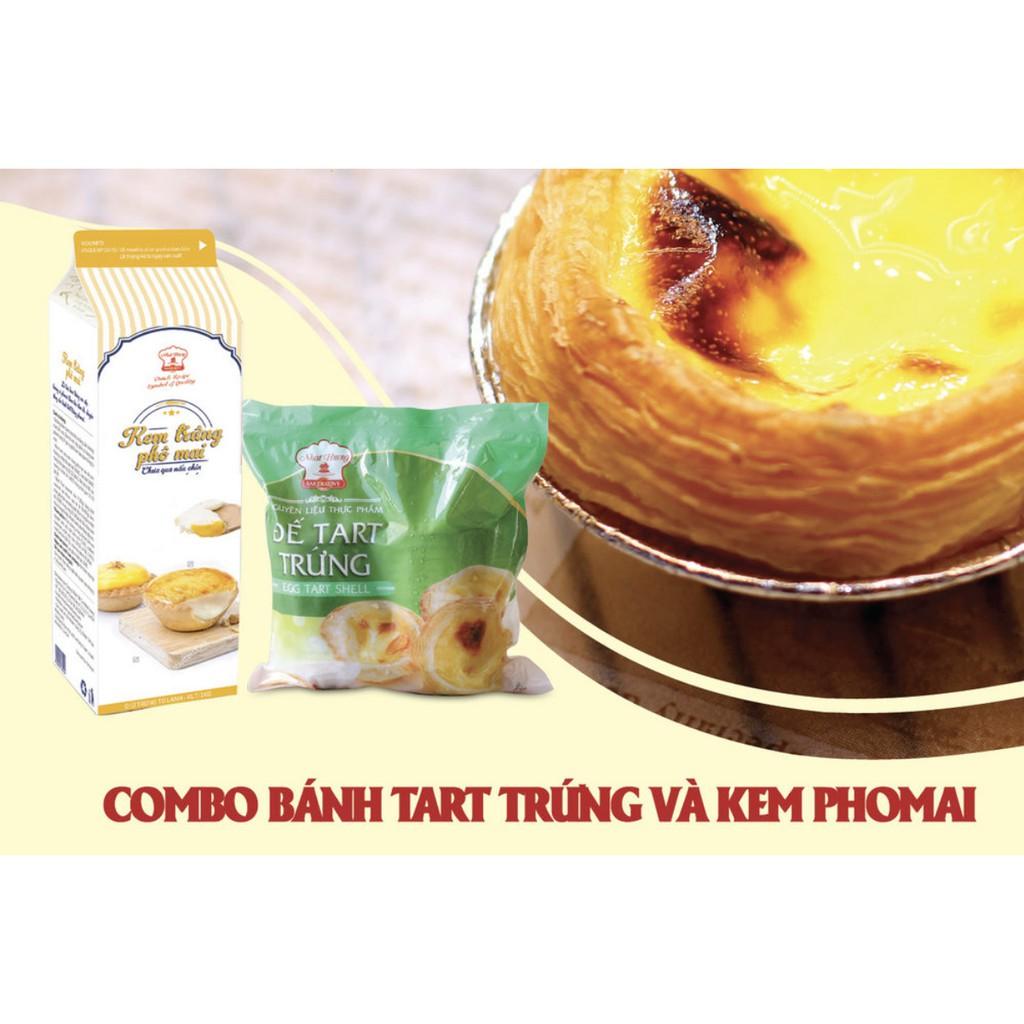 Combo tart trứng vị phô mai ( Kem trứng + đế tart )
