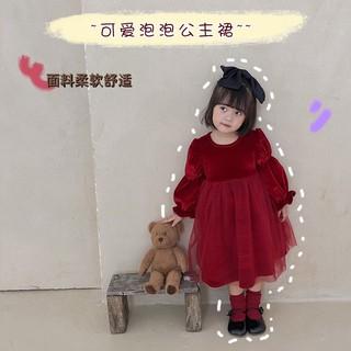 Váy nhung đỏ mềm mịn cho bé đi chơi noel siêu xinh luôn, Váy nhung cho bé, Váy bé