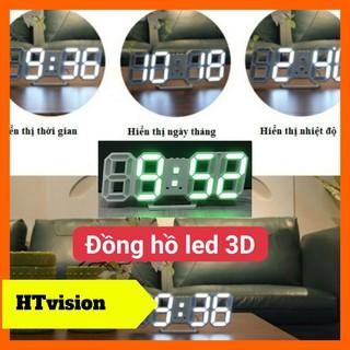 Đồng hồ led 3D treo tường để bàn thông minh trang trí siêu xinh cho không gian của ban