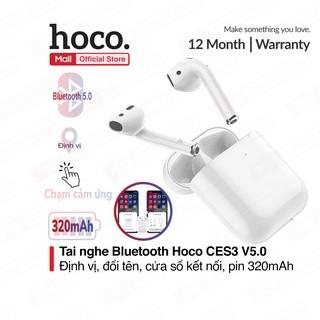 Tai nghe Bluetooth TWS Hoco C.E.S.3 V5.0, định vị, đổi tên thiết bị, chạm cảm ứng, cửa sổ kết nối, pin 320mAh