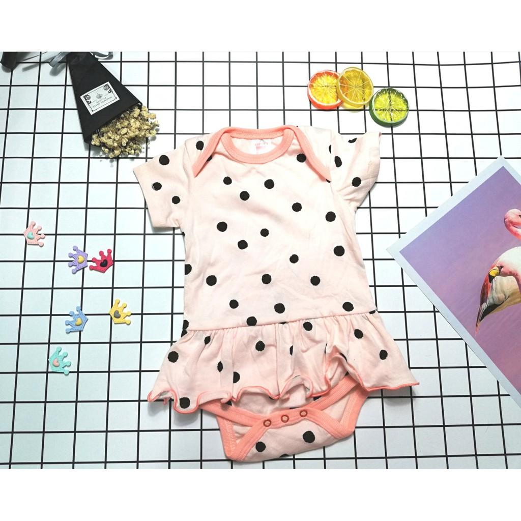 [ sơ sinh - 12 tháng] Body chip ngắn tay cho bé gái