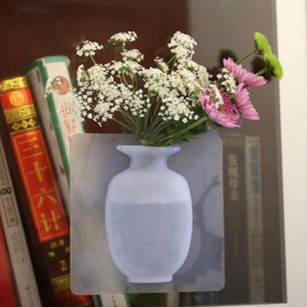 Bình hoa dán tường, dán kính bằng SIlicon | Shopee Việt Nam